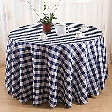 farbe gitter tischdecke Runde tischdecke hochzeit Hotel Couchtisch Esstisch Geschirr dekoration Staub Tuch , blue , round 3m