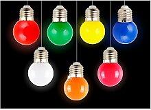 Farbe LED Leuchtmittel E27, ZZm 1W klein