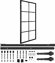 Farbe: Schwarz Türen Schiebetür Aluminium und