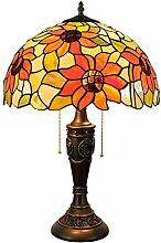 Farbe Sunflower Glas Nachttischlampe, Handgemachte