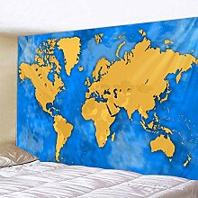 Farbe Welt Karte Tapisserie Kinder Schlafzimmer