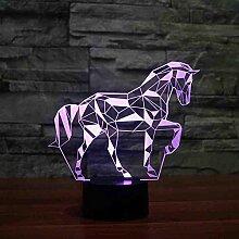 Farben Ändern Puzzle Pferd Acryl 3D Led