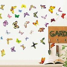 Farbenfrohe Schmetterlinge Wand Aufkleber PVC Home