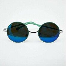 Metall Multicolor Rahmen Sonnenbrille Mode Multicolor Spiegel Reflektierende Mode Sonnenbrillen,PowderBoxPowderMercury