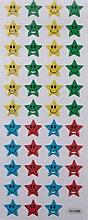 Farbig Stern Lächeln Face Sticker Aufkleber