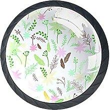 farbige Blumen Blätter Federn und Zweige, 4