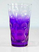 Farbige Dubbegläser -Dubbeglas Lila Dreiviertel 6 farbige Schoppengläser - 0,5 Liter