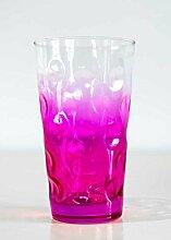 Farbige Dubbegläser - Pfälzer Dubbeglas - Pink -
