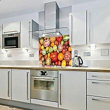 Farbige Früchte – Bedruckter Glas-Spritzschutz