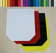 Farbige Glasbodenplatte Funkenschutz Kaminplatte Glas Ofen Platte Bodenplatte Wunschfarbe nach RAL ([RAL] Sechseck 100x100cm [SE100/100])