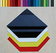 Farbige Glasbodenplatte Funkenschutz Kaminplatte Glas Ofen Platte Bodenplatte Wunschfarbe nach RAL ([RAL] Fünfeck 110x110cm [FE110/110])