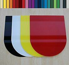 Farbige Glasbodenplatte Funkenschutz Kaminplatte Glas Ofen Platte Bodenplatte Wunschfarbe nach RAL ([RAL] Rundbogen 100x120 cm [RB100/120])
