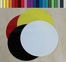 Farbige Glasbodenplatte Funkenschutz Kaminplatte Glas Ofen Platte Bodenplatte Wunschfarbe nach RAL ([RAL] Kreis 110cm [K110/110])