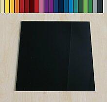 Farbige Glasbodenplatte Funkenschutz Kaminplatte Glas Ofen Platte Bodenplatte Wunschfarbe nach RAL ([RAL] Quadrat 100x100cm [Q100/100])