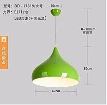 Farbige Kronleuchter, halb Kronleuchter, kegelförmigen Kronleuchter, Kronleuchter, Kronleuchter im Speisesaal, Cafe-Lampe, die Kleidung speichern Kronleuchter,42CM grün