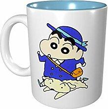 Farbige Tasse aus Porzellan mit Farbstift, 330 ml,