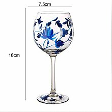 Farbige Zeichnung Große Champagnerglas Glasschale