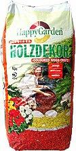 Farbiger Rindenmulch Holzdekor Garten-Deko Mulch 60Ltr. - verschiedene Farben (Orange)