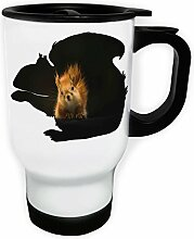 Farbiges Eichhörnchen-Design Weiß Thermischer Reisebecher 14oz 400ml Becher Tasse v900tw