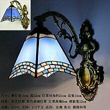 farbiges glas - bett - lampe mediterranes
