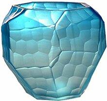 Farbiges Glas Vase manuelles Schleifen Geschnitzte