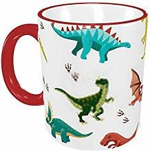 Farbiges Muster mit Dinosauriern 11oz Tasse ist