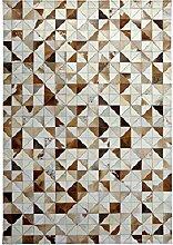 Farbverlauf Farbe Geometrisches Muster Schlafzimmer Spleißen Leicht zu reinigen Leder Teppich ( größe : 140*200cm )