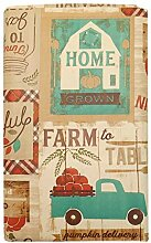 farm To Table Fall Patchwork-Tischdecke aus Vinyl