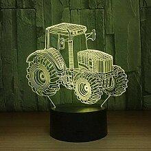 Farm Traktor 3D LED Lampe dekorative Licht