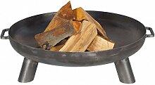 FARMCOOK Feuerschale PAN-37 Stahl unbehandelt in drei Größen (Ø 80 cm H 24 cm)