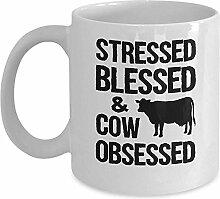 Farmer Gift Mug - betont, gesegnet und Kuh