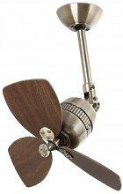 Faro Barcelona Vedra 33450–Ventilator ohne Licht, Aluminium und Rotorblätter Holz MDF
