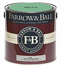Farrow & Ball Estate Emulsion 2,5 Liter - ARSENIC No. 214