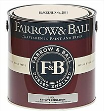 Farrow & Ball Estate Emulsion 2,5 Liter - BLACKENED No. 2011