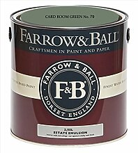 Farrow & Ball Estate Emulsion 2,5 Liter - CARD ROOM GREEN No. 79