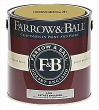 Farrow & Ball Estate Emulsion 2,5 Liter - CHURLISH GREEN No. 251