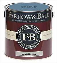 Farrow & Ball Estate Emulsion 2,5 Liter - COOK´S BLUE No. 237