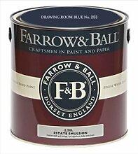 Farrow & Ball Estate Emulsion 2,5 Liter - DRAWING ROOM BLUE No. 253