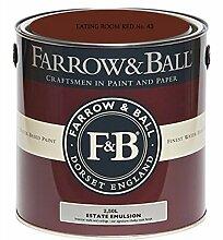 Farrow & Ball Estate Emulsion 2,5 Liter - EATING ROOM RED No. 43
