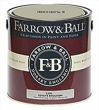Farrow & Ball Estate Emulsion 2,5 Liter - French Gray No. 18