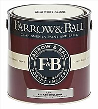 Farrow & Ball Estate Emulsion 2,5 Liter - GREAT WHITE No. 2006