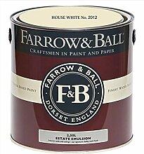 Farrow & Ball Estate Emulsion 2,5 Liter - HOUSE WHITE No. 2012
