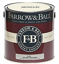 Farrow & Ball Estate Emulsion 2,5 Liter - JAMES WHITE No. 2010