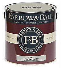 Farrow & Ball Estate Emulsion 2,5 Liter - LAMP ROOM GRAY No. 88