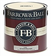 Farrow & Ball Estate Emulsion 2,5 Liter - LIME WHITE No. 1