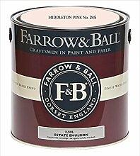 Farrow & Ball Estate Emulsion 2,5 Liter - MIDDLETON PINK No. 245