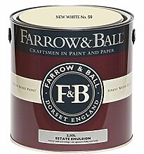 Farrow & Ball Estate Emulsion 2,5 Liter - NEW WHITE No. 59