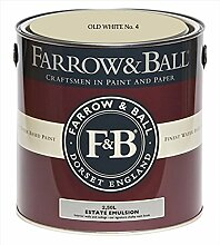Farrow & Ball Estate Emulsion 2,5 Liter - OLD WHITE No. 4