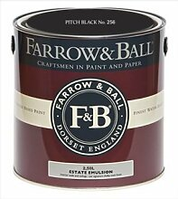 Farrow & Ball Estate Emulsion 2,5 Liter - PITCH BLACK No. 256