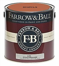 Farrow & Ball Estate Emulsion 2,5 Liter - RED EARTH No. 64